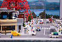 June 14, 2012, Tokyo, Japan - A view of Tokyo city landmarks all made of LEGO bricks are shown during a press preview event at the LEGOLAND Discovery Center Tokyo. The LEGOLAND Discovery Center contains over 3 million LEGO bricks in-house, a 4D movie theater, iconic city land marks of Tokyo all made of LEGO, and a interactive laser ride. The discovery center will open to the general public on June 15, 2012. (Photo by Christopher Jue/AFLO)