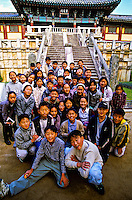 Korean school kids, Pulguksa Temple, Kyongju, South Korea