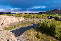 Greybull River in the western Bighorn Basin of Wyoming