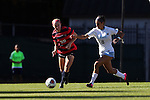 12 November 2016: Liberty's Jennifer Knoebel (20) and North Carolina's Abby Elinsky (8). The University of North Carolina Tar Heels played the Liberty University Flames at Fetzer Field in Chapel Hill, North Carolina in a 2016 NCAA Division I Women's Soccer Tournament First Round match. UNC won the game 3-0