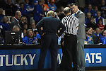 UK head coach Matthew Mitchell talks with the referees during the first half of the UK Hoops vs. Tennessee at Memorial Coliseum in Lexington, Ky., on Sunday, March 3, 2013. Photo by Emily Wuetcher | Staff....