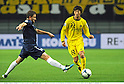 (R-L) Wataru Hashimoto (Reysol), James Pritchett (Auckland),.DECEMBER 8, 2011 - Football / Soccer :.FIFA Club World Cup Playoff match for Quarterfinals match between Kashiwa Reysol 2-0 Auckland City FC at Toyota Stadium in Aichi, Japan. (Photo by Takamoto Tokuhara/AFLO)