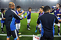 Japan team group (JPN),.OCTOBER 11, 2011 - Football / Soccer :.(3L-R) Shinji Kagawa, Yasuhito Endo, Yuto Nagatomo and Mike Havenaar of Japan take a drink before the 2014 FIFA World Cup Asian Qualifiers Third round Group C match between Japan 8-0 Tajikistan at Nagai Stadium in Osaka, Japan. (Photo by Takahisa Hirano/AFLO)