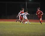 Oxford High's Ty Barber (7) vs. Neshoba Central in MHSAA playoff soccer action in Oxford, Miss. on Tuesday, January 22, 2013. Oxford won 3-1.