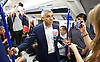 Sadia Khan at London&rsquo;s Night Tube launch at Brixton tube station, London, Great Britain <br /> 19th August 2016 <br /> <br /> Sadia Khan, mayor of London,  launched the first night tube service and travelled on a tube train between Brixton and Walthamstow on the Victoria Line. <br />  <br /> He launched the first 24 hour Friday and Saturday night services on the Central and Victoria lines <br /> <br /> Photograph by Elliott Franks <br /> Image licensed to Elliott Franks Photography Services