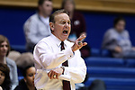 20 March 2015: MSU head coach Vic Schaefer. The Mississippi State University Bulldogs played the Tulane University Green Wave at Cameron Indoor Stadium in Durham, North Carolina in a 2014-15 NCAA Division I Women's Basketball Tournament first round game.