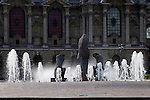 Europe, France, Lille. Fountain at Place de la Republique, Lille.