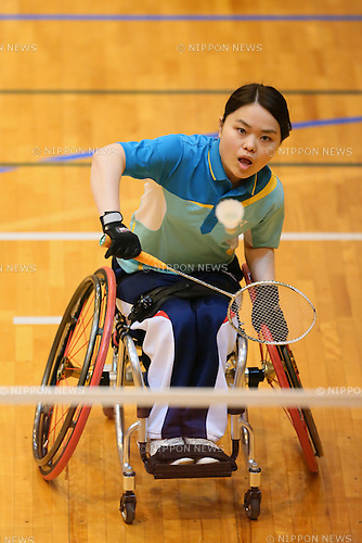 Eri Ogura, <br /> FEBRUARY 6, 2016 - Badminton : <br /> The 1st Japan National Badminton Championships <br /> Women's singles WH2 <br /> at Kurume city western gymnasium, Fukuoka, Japan. <br /> (Photo by Yohei Osada/AFLO SPORT)
