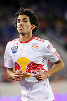 Mehdi Ballouchy (10) of the New York Red Bulls. The New York Red Bulls defeated the Kansas City Wizards 1-0 during a Major League Soccer (MLS) match at Red Bull Arena in Harrison, NJ, on October 02, 2010.