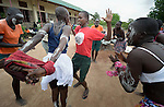 Students perform a traditional dance at the Loreto Secondary School in Rumbek, South Sudan. The girls' school is run by the Institute for the Blessed Virgin Mary--the Loreto Sisters--of Ireland.