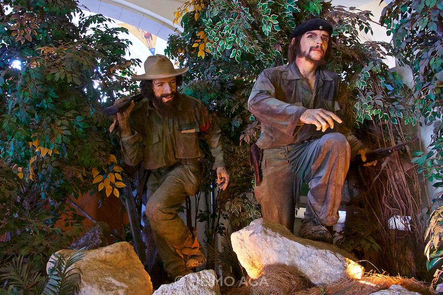 Havana, Cuba. Museo de la Revolucion (Museum of the Revolution). Wax figures of Camilo Cienfuegos and Che Guevara.