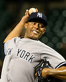 New York Yankees pitcher Mariano Rivera (42) pitches in the tenth inning against the Baltimore Orioles at Oriole Park at Camden Yards in Baltimore, MD on Thursday, April 11, 2012.  The Yankees won the game 6 - 4..Credit: Ron Sachs / CNP.(RESTRICTION: NO New York or New Jersey Newspapers or newspapers within a 75 mile radius of New York City)