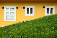 Windows as seen on a hill in Bratislava, Slovakia.