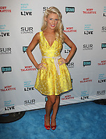 Gretchen Rossi.Bravo's Andy Cohen's Book Release Party For &quot;Most Talkative: Stories From The Front Lines Of Pop Held at SUR Lounge, West Hollywood, California, USA..May 14th, 2012.full length yellow dress  white sash ribbon waist red shoes hands on hips.CAP/ADM/KB.&copy;Kevan Brooks/AdMedia/Capital Pictures.