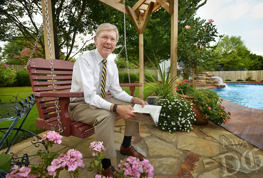 NWA Democrat-Gazette/BEN GOFF @NWABENGOFF<br /> Fred Lookadoo poses for a photo on Thursday Aug. 11, 2016 in his favorite personal space, the back yard of his home in Rogers.