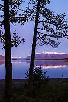 Sunset on Mount Katolinat, Naknek lake, Katmai National Park, Alaska.