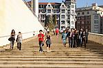 Stairway at Guggenheim Museum, Bilbao, Euskadi, Basque Country, Spain