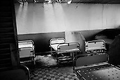 Guekedou, Guinea<br /> April 2001<br /> <br /> The beds in a maternity ward at the hospital which was destroyed by Sierra Leone rebels in January.