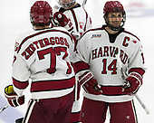 Alexander Kerfoot (Harvard - 14) - The Harvard University Crimson defeated the Yale University Bulldogs 6-4 in the opening game of their ECAC quarterfinal series on Friday, March 10, 2017, at Bright-Landry Hockey Center in Boston, Massachusetts.