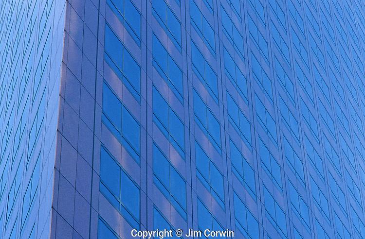 Refections off skyscraper abstract Los Angeles California