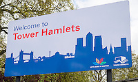 Welcome to Tower Hamlets Sign.