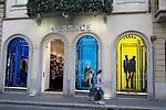 Versace Shop in Monte Napoleone Street in Milan in Italy