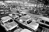 April 1975 - Ambassador Car Factory near Calcutta (now Kolkata) India.