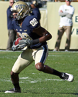 Pittsburgh wide receiver Oderick Turner. The Pittsburgh Panthers defeated the Syracuse Orange 37-10 at Heinz Field, Pittsburgh Pennsylvania on November 7, 2009..