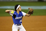 CHAPEL HILL, NC - FEBRUARY 24: Hampton's Lorena Alvarez. The Hampton University Pirates played the Towson University Tigers on February, 24, 2017, at Anderson Softball Stadium in Chapel Hill, NC in a Division I College Softball match. Towson won 17-2 in a five inning run-rule game.