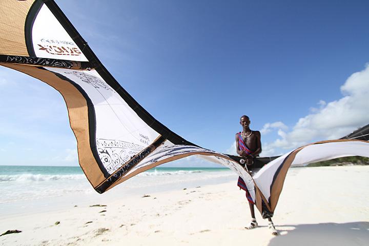 Photographs of Kitesurfing