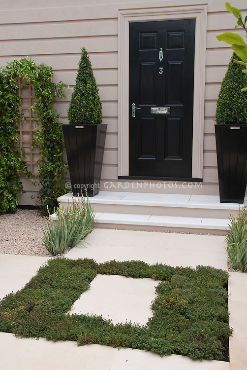Courtyard Front entrance garden landscaping