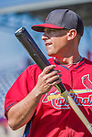9 March 2014: St. Louis Cardinals first baseman Allen Craig prepares for batting practice prior to a Spring Training game against the Washington Nationals at Space Coast Stadium in Viera, Florida. The Nationals defeated the Cardinals 11-1 in Grapefruit League play. Mandatory Credit: Ed Wolfstein Photo *** RAW (NEF) Image File Available ***