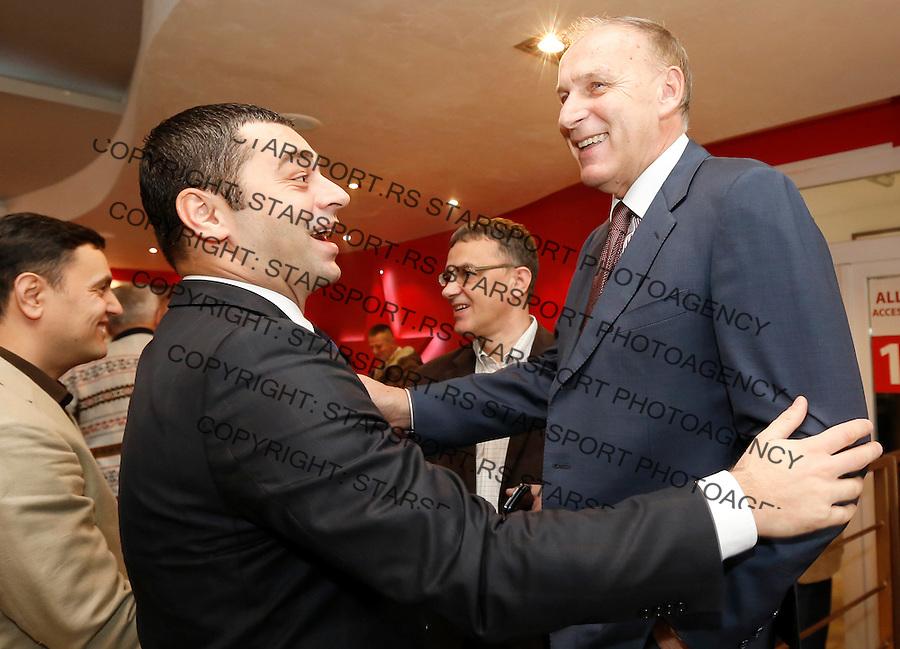 Fudbal Super liga season 2013-2014<br /> FK Crvena Zvezda novogodisnji koktel<br /> Zoran Lakovic (L) and Dragan Dzajic<br /> Beograd, 23.12.2013.<br /> foto: Srdjan Stevanovic/Starsportphoto &copy;