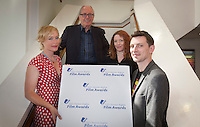 ***NO FEE PIC ***<br /> 05/06/2013 <br /> (L to R) Director of the Value of Women in the Congo Dearbhla Glynn with  Jury Members Former Direcotr of the IFCO John Kelleher, Kirsten Sheridan &amp; Nicky Phelan during  the shortlist for the 5th annual Irish Council for Civil Liberties Human Rights Film awards at  the IFCO in Smith field, Dublin.<br /> Photo:  Gareth Chaney Collins