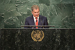 Address by His Excellency Sauli Niinist&ouml;, President of the Republic of Finland <br /> <br /> <br /> General Assembly Seventy-first session 10th plenary meeting<br /> General Debate