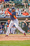 22 March 2015: Houston Astros outfielder L.J. Hoes in Spring Training action against the Pittsburgh Pirates at Osceola County Stadium in Kissimmee, Florida. The Astros defeated the Pirates 14-2 in Grapefruit League play. Mandatory Credit: Ed Wolfstein Photo *** RAW (NEF) Image File Available ***
