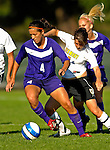 31 August 2007: University of Central Arkansas Sugar Bears' Kari Mars (4), a Freshman from San Antonio, Texas, in action against the University of Vermont Catamounts at Historic Centennial Field in Burlington, Vermont. The Catamounts defeated the Sugar Bears 1-0 during the TD Banknorth Soccer Classic...Mandatory Photo Credit: Ed Wolfstein Photo