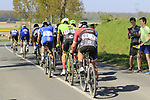 Lead group of riders come off pave sector 10 Merignies a Avelin during the 115th edition of the Paris-Roubaix 2017 race running 257km Compiegne to Roubaix, France. 9th April 2017.<br /> Picture: Eoin Clarke | Cyclefile<br /> <br /> <br /> All photos usage must carry mandatory copyright credit (&copy; Cyclefile | Eoin Clarke)