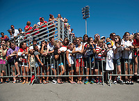 USWNT Fans.  The USWNT defeated Costa Rica, 8-0, during a friendly match at Sahlen's Stadium in Rochester, NY.