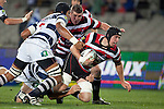 Chris McLaren  gets taken to ground by Josh Townsend and Steven Luatua.  ITM Cup Round 7 rugby game between Auckland and Counties Manukau, played at Eden Park, Auckland on Thursday August 11th..Auckland won 25 - 22.