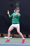 WINSTON-SALEM, NC - MARCH 17: Notre Dame's Brooke Broda. The Wake Forest University Demon Deacons hosted the University of Notre Dame Fighting Irish on March 17, 2017, at Wake Forest Tennis Center in Winston-Salem, NC in a Division I College Women's Tennis match. Notre Dame won the match 4-1.
