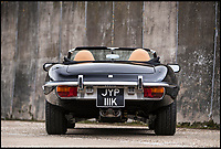 BNPS.co.uk (01202 558833)<br /> Pic: Bonhams/BNPS<br /> <br /> Yours for &pound;120,000 - Fastest E-Type in the world.<br /> <br /> This 21st century rebuild of 'the most beautifiul car ever made' gives you classic looks, 185mph modern performance...and no road tax!<br /> <br /> This classic Jaguar E-Type is the fastest of its kind after being fitted with 21st century technology and a high performance engine under its classic lines.<br /> <br /> The famous sports cars were described by Enzo Ferrari as 'the most beautiful vehicle ever made' but when this model left the factory in 1972 it would have had around half the power of the supercharged 400bhp V8 engine it sports today. <br /> <br /> Although nearly half-a-century old, the roadster now rockets from 0-60mph in four seconds and has a top speed of 185mph. <br /> <br /> It also has updated power-assisted steering, cruise control, satellite navigation and a stereo system. It is to go under the hammer for an estimated &pound;120,000.