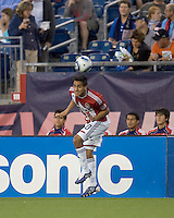 Chivas USA midfielder Jesus Padilla (10) heads the ball.  Chivas USA defeated the New England Revolution, 4-0, at Gillette Stadium on May 5, 2010.