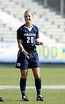Virginia's Sarah Senty on Sunday, November 6th, 2005 at SAS Stadium in Cary, North Carolina. The University of North Carolina Tarheels defeated the Virginia Cavaliers 4-1 in the Championship Game of the Atlantic Coast Conference Women's Soccer Tournament.