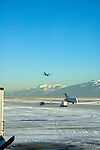 Airplanes Taking Off and Landing, Salt Lake City Airport, Utah