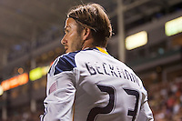 LA Galaxy midfielder David Beckham (23) prepares for a corner Kick. The LA Galaxy and Red Bulls of New York played to a 1-1 tie at Home Depot Center stadium in Carson, California on  May 7, 2011....