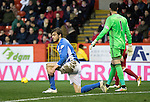 Aberdeen v St Johnstone&hellip;10.12.16     Pittodrie    SPFL<br />Murray Davidson reacts to his missed chance<br />Picture by Graeme Hart.<br />Copyright Perthshire Picture Agency<br />Tel: 01738 623350  Mobile: 07990 594431