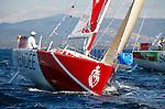 Depart de la WOW Cap Istanbul..Vendee 192.Sebastien Josse