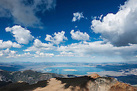 View over Mono basin from summit of Mt. Dana (13,053 ft), Yosemite national park, California, USA