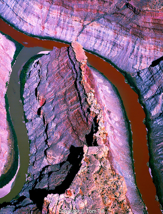 Red and Green Waters at the Confluence of the Green and Colorado rivers, Utah, near Moab